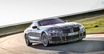 BMW 8 Series coupe undergoes vehicle dynamics evaluation in Italy