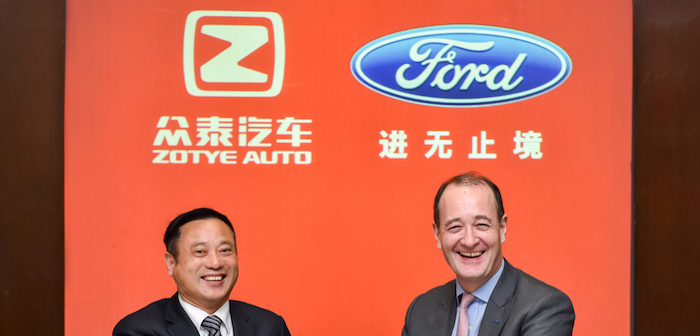 Ford and Chinese OEM Zotye Auto to develop future all-electric cars