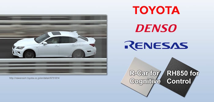 Renesas technology selected by Toyota for future AVs