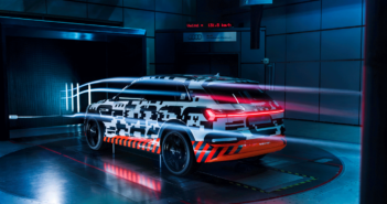 E-tron undergoes 1,000 hours of wind tunnel testing