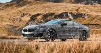 BMW tests the 8 Series Coupe on roads around Wales, UK