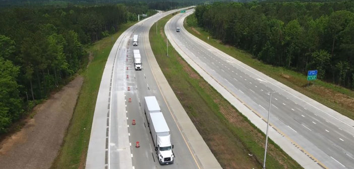 Volvo Trucks demonstrates platooning in North Carolina