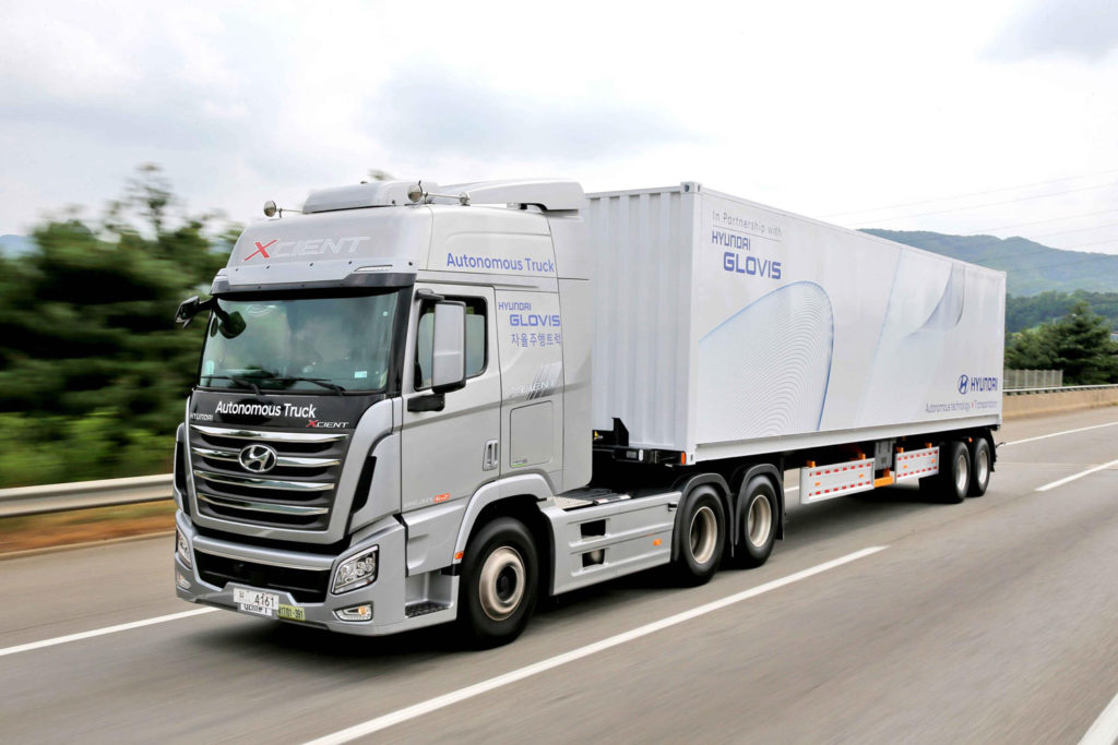 Hyundai undertakes first South Korea highway journey with an autonomous truck