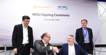 Continental and EasyMile launch autonomous vehicle trial in Singapore