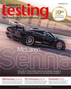 Automotive Testing Technology International Magazine November 2018