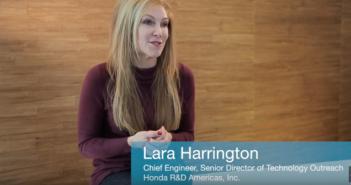 Honda R&D Americas lead engineer Lara Harrington