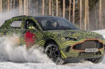 British luxury car maker Aston Martin tests DBX in Sweden