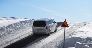 Mercedes-Benz tests EQV 300 in Arjeplog, Sweden