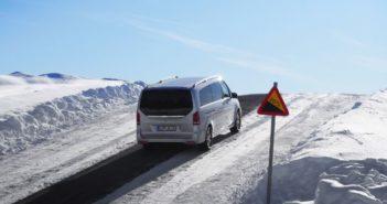 Mercedes-Benz tests EQV 300 in Arjeplog, Sweden