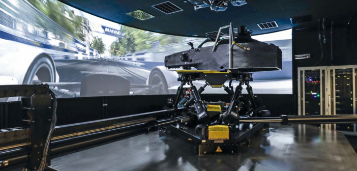 A look at the Porsche Racing simulator