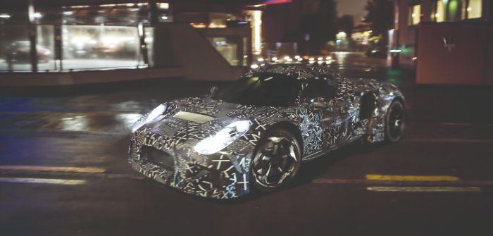 Maserati MC20 in camouflage