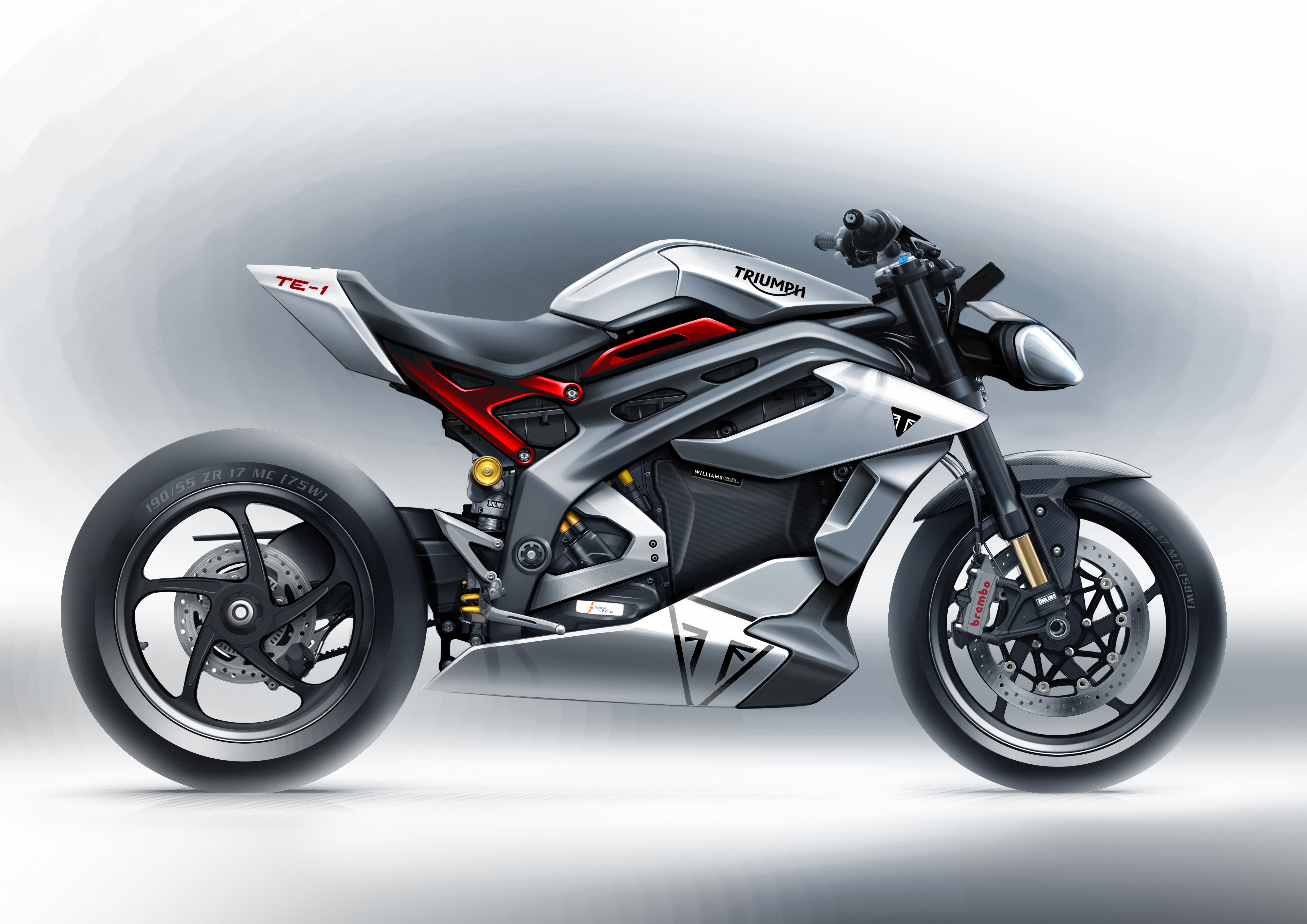 Project Triumph TE-1 has released the first styling sketches of the final prototype for its electric motorcycle