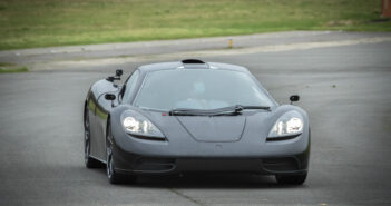 Professor Gordon Murray tests the T.50 XP2 prototype on-track for the first time, in the UK