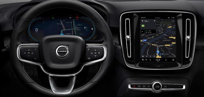 Volvo introduced a brand-new infotainment system in the electric XC40