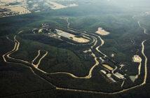 Aerial shot of the Australian Automotive Research Centre in Victoria, Australia