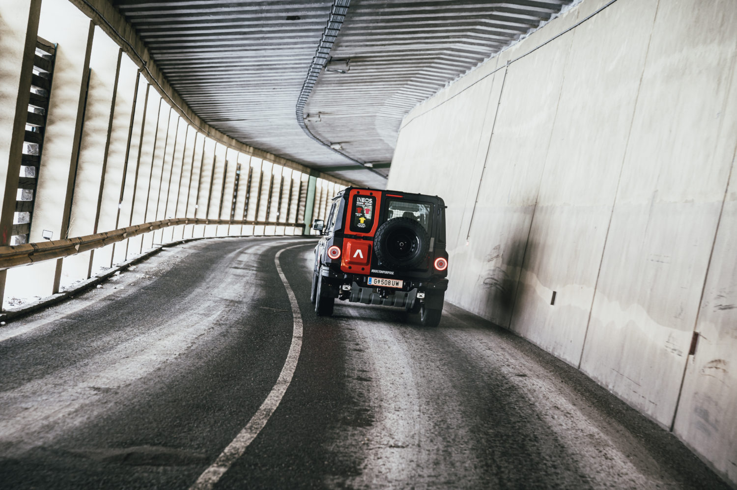 The vehicle was also driven on public roads in Austria
