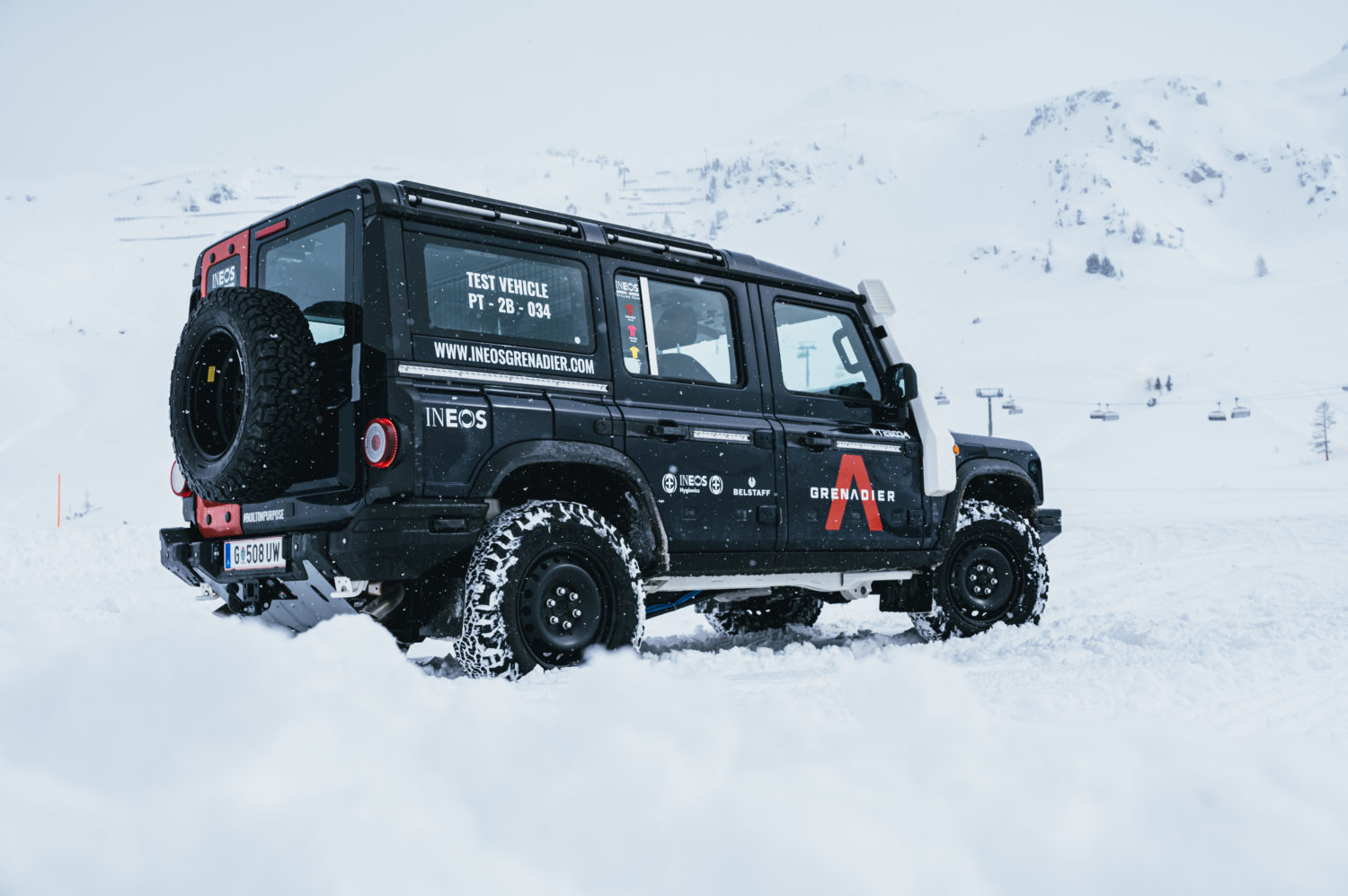 Analysis in the snow in Sweden proved out the 4x4's off-road performance