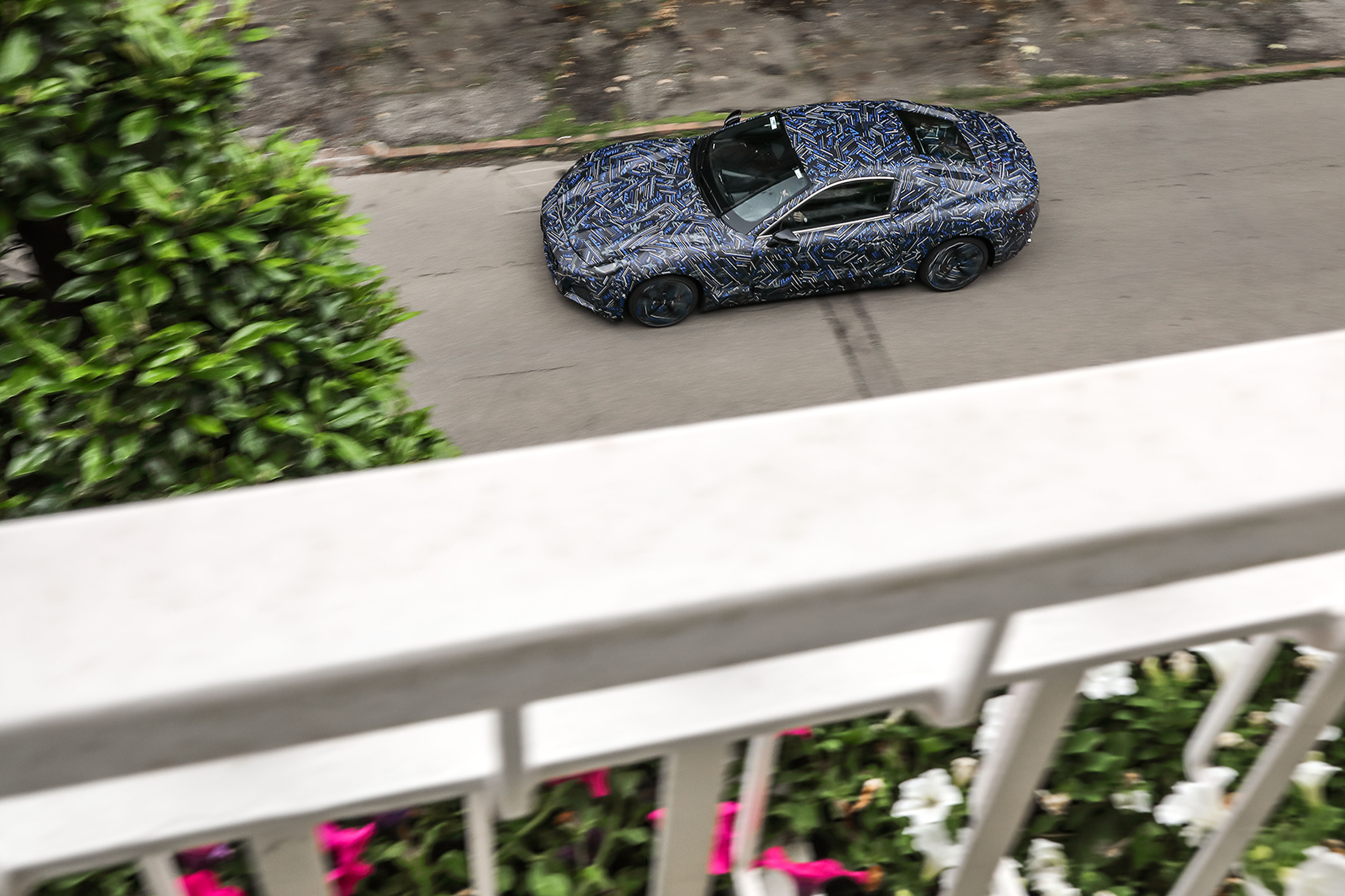 Engineers drove the GranTurismo prototype on roads in Modena for the first time