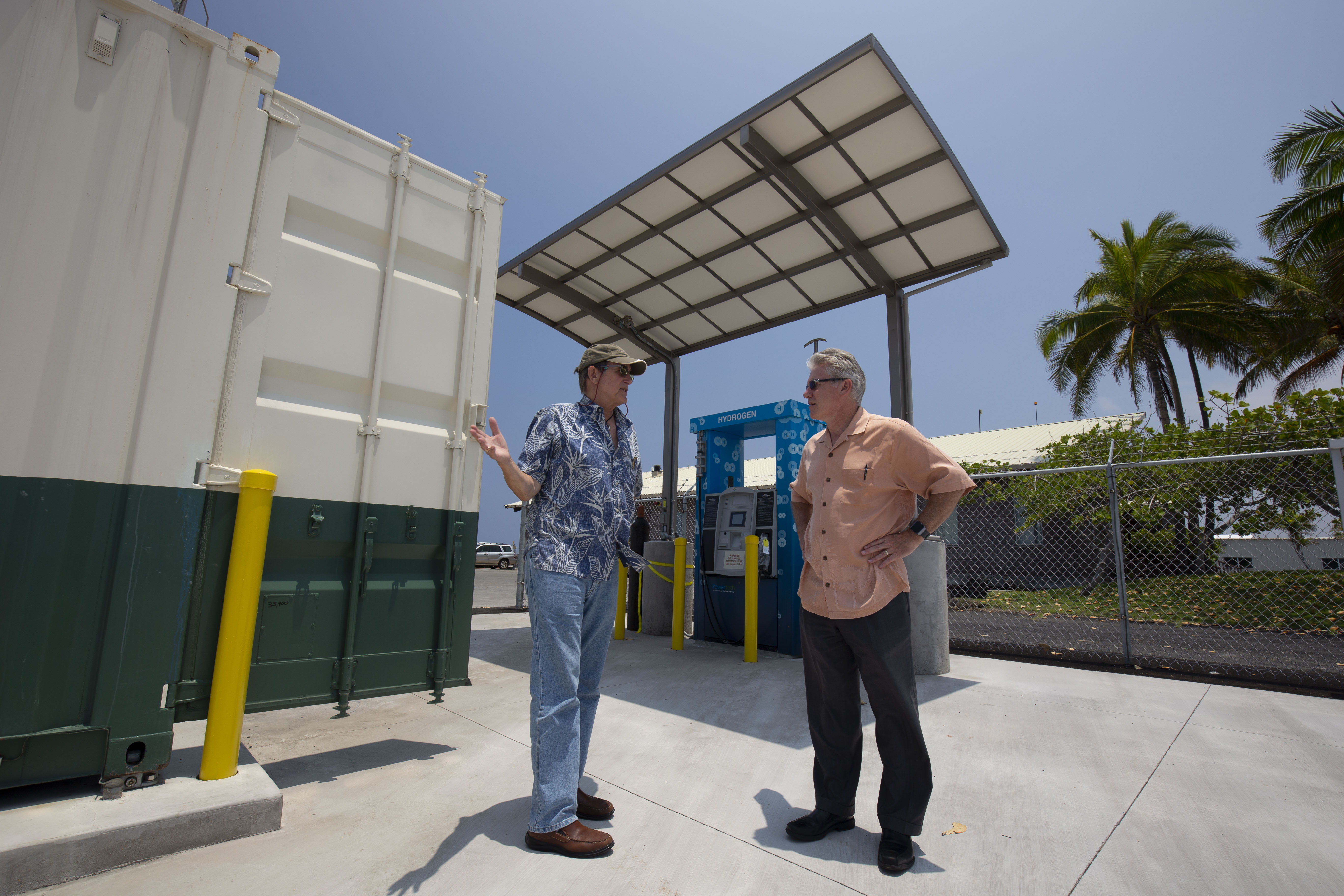 CTE staff on site at a hydrogen fueling station in Hawaii