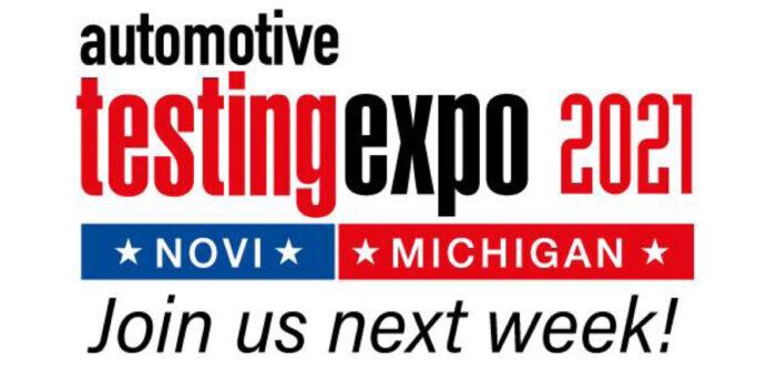 Automotive Testing Expo in Novi: One week to go!