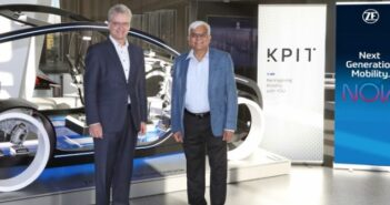 Dr Dirk Walliser, head of corporate R&D at ZF Group (left) and Kishor Patil, CEO at KPIT Technologies (right)